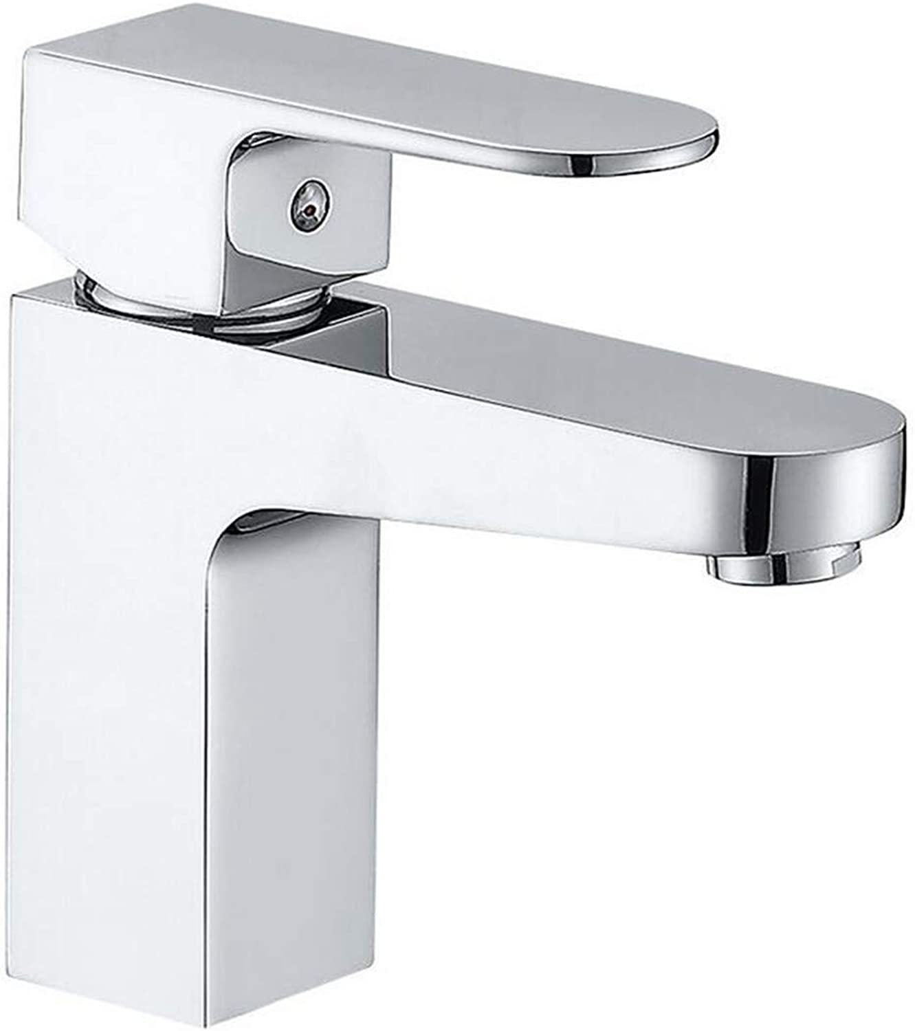 Basin Sink Mixer Faucetbathroom Basin Hot and Cold Water Mixer Faucet Single Hole Faucet Copper Material Faucet