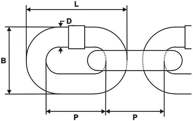50m Stahlkette verzinkt 5mm Rundstahlkette kurzgliedrig A1 DQ-PP