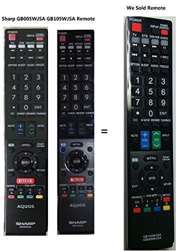 New GB005WJSA GB105WJSA Replace Remote Control fit for Sharp LC-60LE745U LC-60C8470U LC-70C8470U LC-60LE847U LC-60LE845U LC-60C7450U LC-90LE745U LC-70LE847U LC-80LE844U RRMCGB005WJSA TV