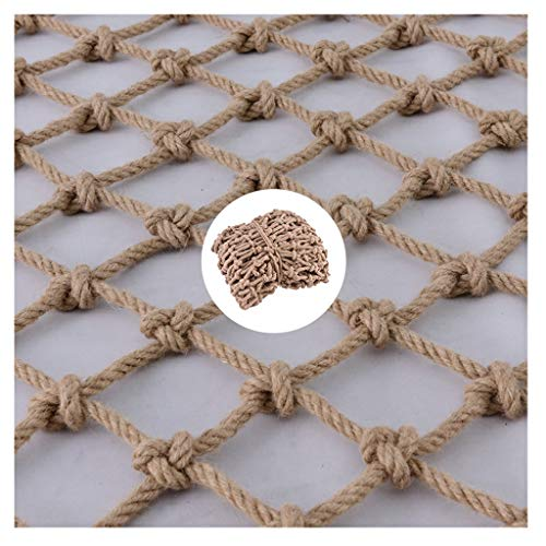 shh Safety net Outdoor Safety Net Child Protection Net Sports Climbing Net Waterproof Hemp Rope, For Bar Restaurant Wall Ceiling Decoration Hemp Rope Net Playground Protective net