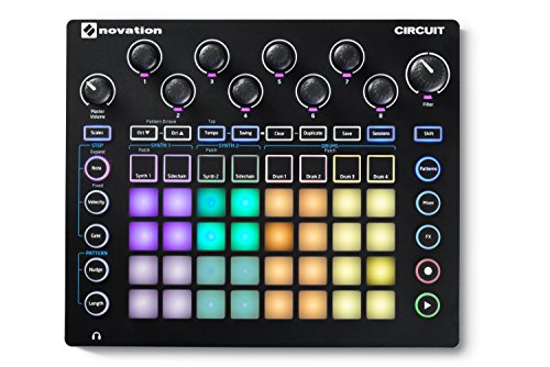Novation Circuit Groove Box mit Sample Import, 2-Part Synthesizer mit 4-Part Drum Machine und Sequencer