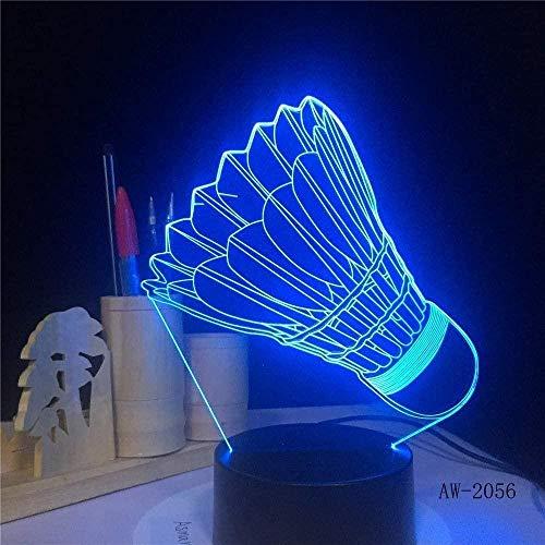 Nachtlicht Badminton 7 Farbwechsel Lampenschalter Leuchten Geschenk für ROM Lights Led Night Light-Touch