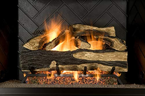 Sure Heat SH18DBNG Sure Heat Seasoned Hickory Dual Burner Vented Gas Log Set,...