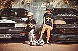 dxycfa Kit de pintura digital de bricolaje decoración de arte de pared regalo de recuerdo hermano pequeño caminando en el fútbol 40x50cm sin marco