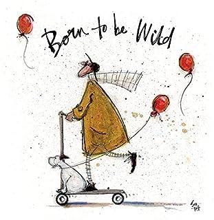 Sam Toft WDC91611 Toile imprimée 30 x 30 cm (Born to be Wild), Multicolor, 30 x 30 x 3,8 cm