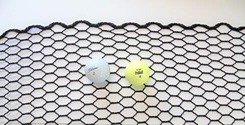 NETTEXX Golf Practice Hitting Net - Commercial Quality Impact Netting for Your Own Custom Driving Range in The Backyard or Garage (UV Treated for Indoor or Outdoor Use) (30, 10)