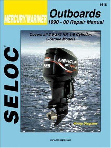 mercury outboard manual amazon commercury mariner outboards, all engines 1990 2000 (seloc marine manuals)