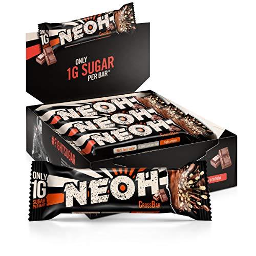 NEOH Lowcarb Protein Riegel Schokolade | 1g Zucker / 94 kcal / 32% Protein pro Riegel | Ohne Zuckerzusatz | Vorteilsbox 12x30g | Chocolate