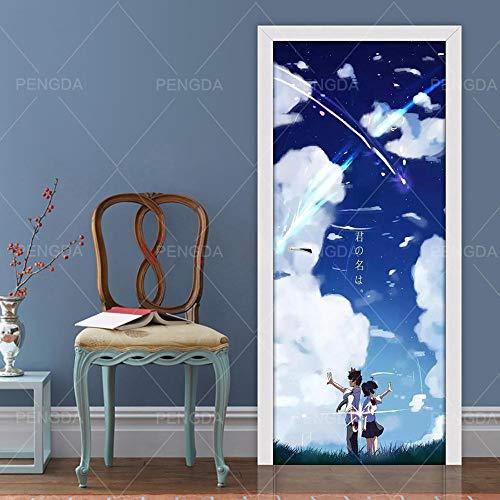 Deur Etiket 3D sticker je naam DIY deur sticker zelfklevend anime decoratie huis papier PVC waterdicht 3D print kunst foto voor de woonkamer