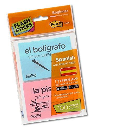 FlashSticks Haftnotizen für Anfänger, Spanisch, 100 Wörter