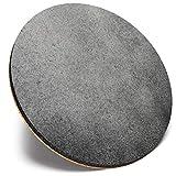 Posavasos redondo único – BW – fondo rústico de efecto metal | Posavasos de calidad brillante | Protección de mesa para cualquier tipo de mesa #42107