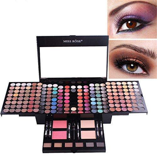 BrilliantDay set palette 180 colori per makeup cosmetici professionali, includ ombretti lucidalabbra fard cipria fondotinta evidenziare polvere