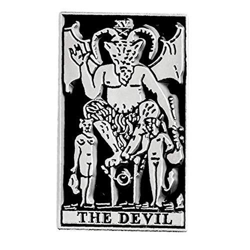 Zonfer Dunkle Emaille Dämon Satanismus Metall Punk Hexe Böse Pins Halloween Skeleton Gothic Puck Brosche