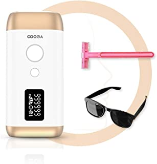 COOGA Laser Hair Removal for Women and Men at Home Permanent Hair Removal Device Mini Portable Glide Away Hair Removal Kit...