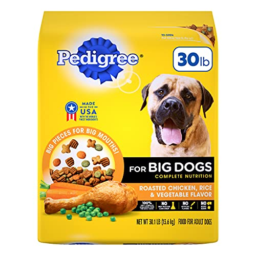 PEDIGREE Big Dogs Adult Complete Nutrition Roasted Chicken Rice & Vegetable Dry Dog Food; 100% Complete and Balanced, for wellness and whole body health