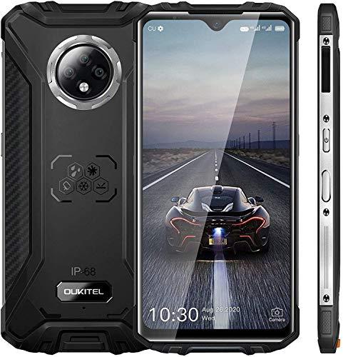 """Telephone Incassable OUKITEL WP8 Pro Smartphone Pas Cher Telephone Portable Debloqué 4G(Android 10,4Go+64Go Octa-Core, Selfie AI 8MP et Triple caméra 16MP, 5000mAh,6.49"""") Antichoc Étanche"""
