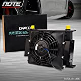 US 28 Row 10AN Universal Engine Transmission Oil Cooler+7' Fixed Cooling Fan Kit