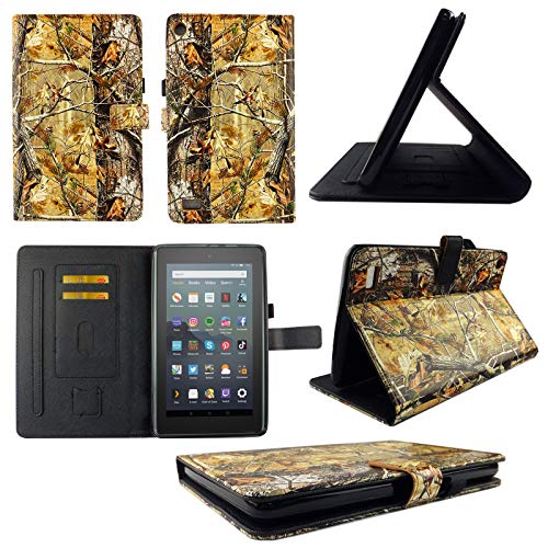 wirlesspulse TPU Shell Case for All-New Amazon Fire HD 7 9th 7th Gen 20192017 Camo RT Slim PU Leather Folding Stand Cover with Auto WakeSleep for 7 Inch