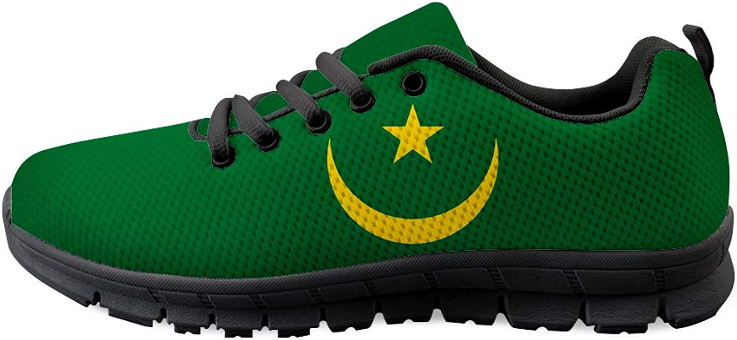 Owaheson Lace-up Sneaker Training shoes Mens Womens Mauritania Flag