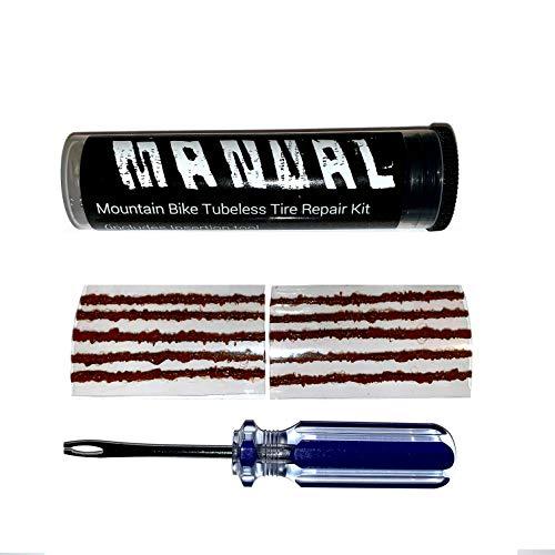 Manual Tubeless Tire Repair Kit MTB Bacon Strips Plus Insertion Tool