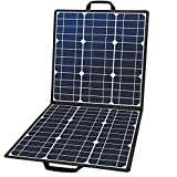 50W 18V Portable Solar Panel, Flashfish Foldable Solar Charger with 5V USB 18V DC Output Compatible...