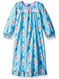 Extra soft and easy to care for granny style gown; Sublimated graphics Fully taped collar; Ruffled sleeves and hem; Bow detail; Long sleeves This garment is tailored in flame resistant fabric for fire safety Features Disney Frozen characters: Queen E...