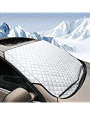 BEEWAYカーフロントガラスカバー サンシェード カバー、頑丈 超厚い 保護 防風 防雪 UVカット 防塵 防水 オールシーズン夏冬 SUVs 適用