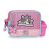Disney Minnie Pink Vibes Bandolera Rosa 18x15x5 cms Poliéster
