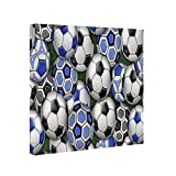 Canvas Wall Art for Living Room, International Soccer Balls Photo to Canvas Print Framed Pictures Poster Ready to Hang Home Decor