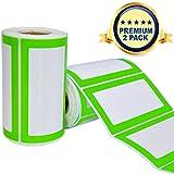 Namen Aufkleber Etiketten Selbsteklebend - 2 Rollen 500 Sticker Insgesamt - 9 x 5 cm - Namensschilder Farbetiketten für Küche