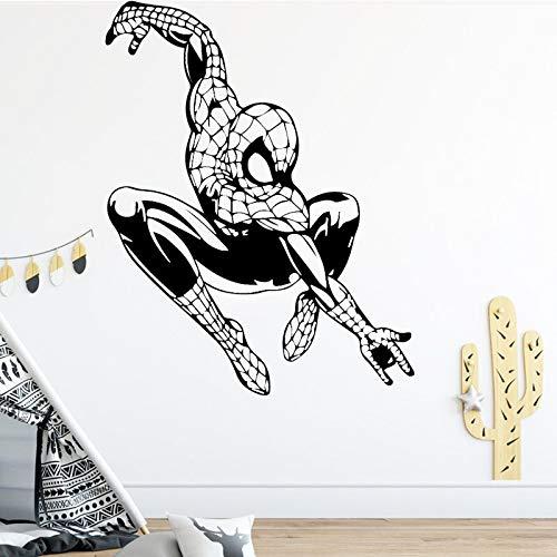 guijiumai Springen Dobermann Vinyl Wandaufkleber Tiere Wohnkultur Hund Abnehmbare wasserdichte Wandkunst Aufkleber Für Kinder104X131CM