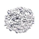 Anyasen 200 Pezzi Strass da Cucire Cristallo Decorazione Trasparente Gemme Acrilico da Cucire Strass con Doppi Fori Pietre Artificiali per Rifiniture Cucito(Trasparente)