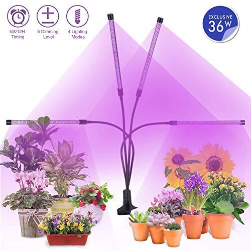 Lámpara de Plantas, MiMiya 72 LED Luz de la Planta Iluminación 36W E