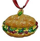 hru Muffaletta Italian Sandwich Christmas Mardi Gras Tree Ornament Sicilian Bourbon Street New Orleans Louisiana po boy Olive French Quarter