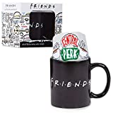 Friends Coffee Mug and Central Perk Novelty Socks Gift Set with Heat Changing Coffee Cup, Official TV Show Merchandise