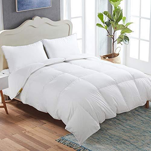 viewstar Lightweight Down Alternative Comforter, All-Season White Breathable Duvet Insert or Stand-Alone Comforter with Corner Duvet Tabs - Hypoallergenic - Machine Washable(Queen 88x88)