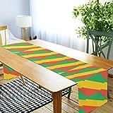 LORDWEY Kongo Brazzaville Flagge Tischläufer, rutschfeste hitzewiderstandsfähige Tischdecke für Esstisch Party 45,7 x 182,9 cm