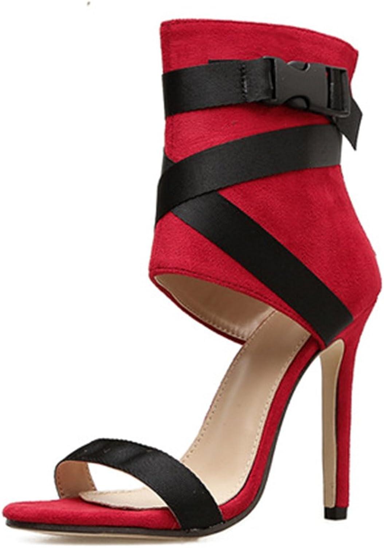 Frauen High Heel Sandaletten Stilettos Farbeblock Open Toe Damen Ktzchen Pumpe Einfache Mode Hochzeit Schuhe Gre