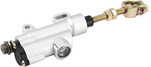 Universal Rear Brake Master Cylinder, Keenso Rear Foot Brake Hydraulic Master Cylinder Pump Silver For Motorbike Atv Dirt Bike(Silver)