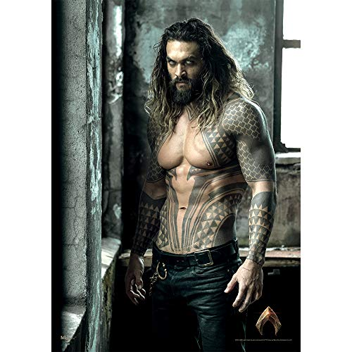MightyPrint Justice League Movie Aquaman (Jason Momoa - Shirtless) Wall Art - Not a Paper Poster - Strong Lasting Matte Finish