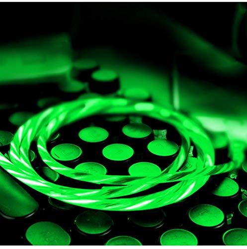 LQZHP - Cable de iluminación LED para iPhone X/8/8 Plus/7/7 Plus/6/6 Plus/6S/6S Plus/5/5S/5C/SE/iPad/iPad/XS/XS Max, color verde