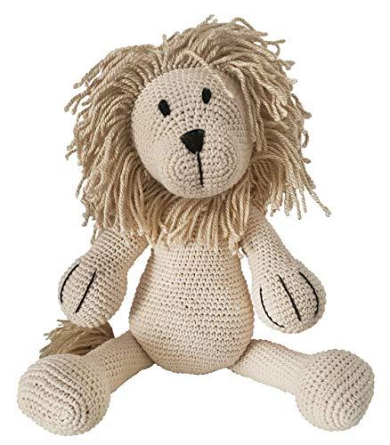 LOOP BABY gehäkelter Löwe Leo aus Bio-Baumwolle - handgemachtes Kuscheltier mit Name- Plüschtier Löwe - personalisiertes Kuscheltiere