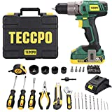 Cordless Drill, 20V 2.0Ah Battery, 63Pcs Drill Set Combo Kit, 310 In-lbs Torque, 2-Speed, 21+1 Position Torque, with Fast Charger, Tool Case, Power Tool for General Household - BHD100D