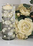 Easy Elegance by JellyBeadZ Brand 34 Ivory Pearl Beads Including 12 Gram Pack Clear JellyBeadZ for Wedding Centerpieces and Decorations