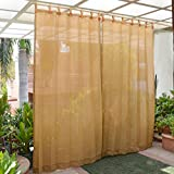 Extra Shading & Denser Fabric. Protects From Sun & Blocks Up To 80-85% Uv Rays. Breathable Fabric Allows Air To Circulate & Keeps Surroundings Cool Decorative Wooden Buttons Stitched With The Curtains Ideal For Balconies, Verandas, Public Areas, Pat...