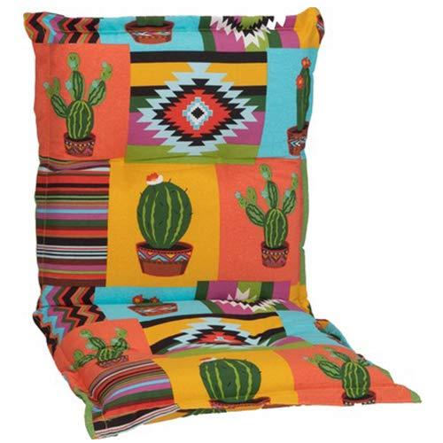 nxtbuy Gartenstuhl-Auflage Nizza 100x52 cm Mexico 2er Set - Niedriglehnerauflage für Gartenstühle - Stuhlauflage mit Komfortschaumkern - Made in EU / ÖkoTex100