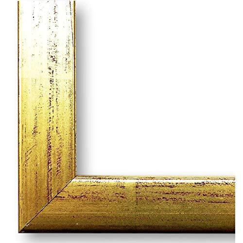 Online Galerie Bingold Bilderrahmen Erlangen Gold 2,0 I 9 x 13 cm als Leerrahmen (LR) I handgefertigte Holz Fotorahmen I Leerrahmen Holz I inkl. Montagematerial