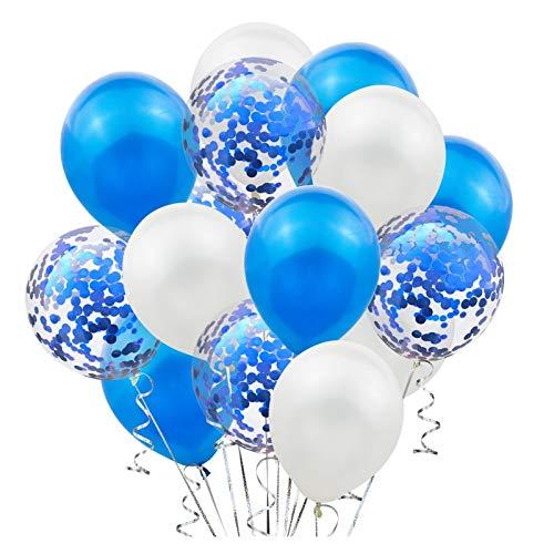 XINGYAO Balloon 12inch Red Confetti Latex Balloons for Wedding Decor Birthday Party Balloons Kids Birthday Balloons party (Color : Blue)