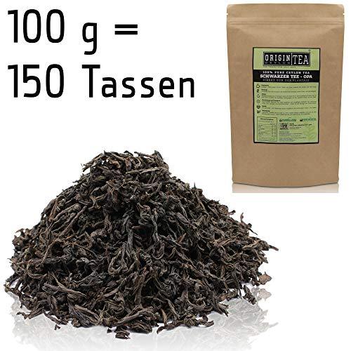 Origin Ceylon Tea 100g (150 Tassen) Bester Schwarzer Tee (OPA) Direkt von der Plantage aus Sri Lanka