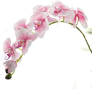 Miracliy 1 Piece Artificial Butterfly Orchid Flower Artificial Flower Plant for Home Decoration, Light Pink